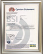HIWIN Corporation, Greenhouse Gas Emissions ISO 14064-1 certificate from BSI